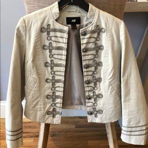 H&M grey blazer with stitching detail
